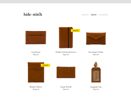 Squarespace e-commerce functionality