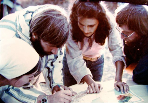 Plotting a route through Morocco in the 1970s