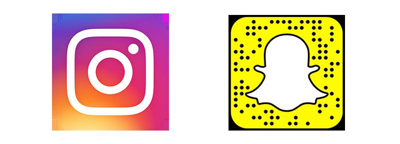 Instagram vs Snapchat Logos