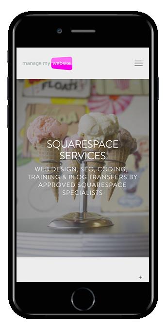 digital agency squarespace website hayden template mobile view