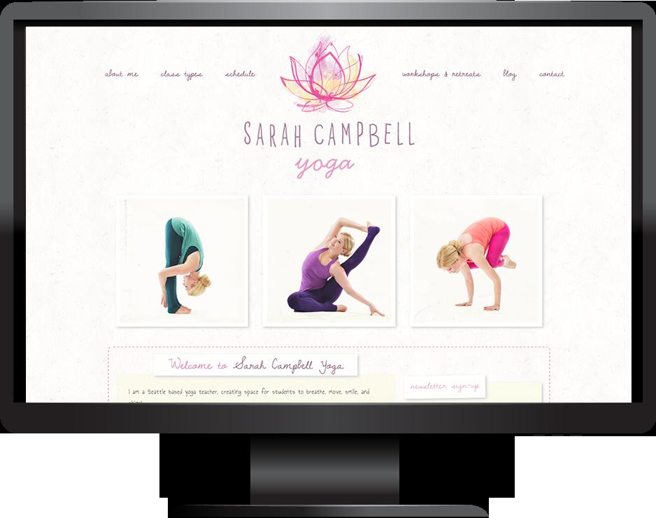 Sarah Campbell Yoga website