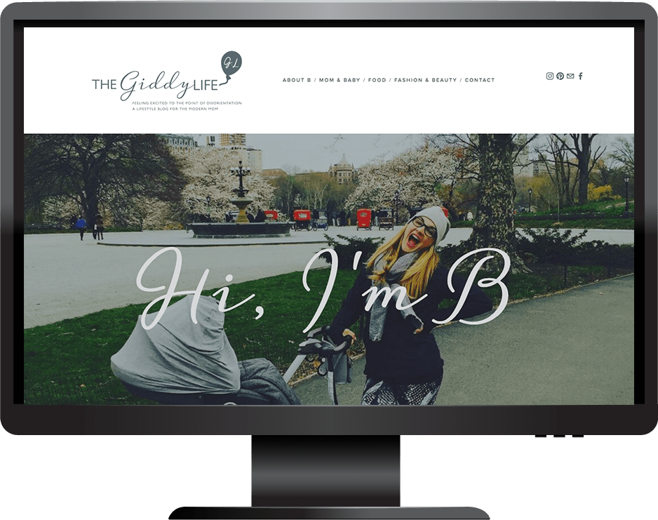 The Giddy Life website