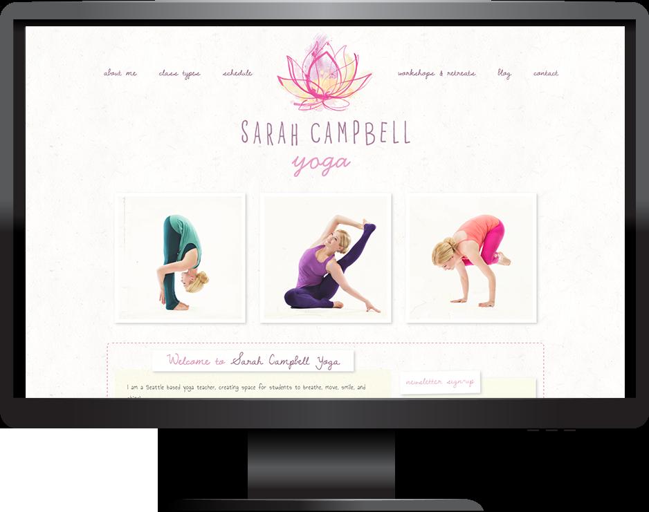 yoga teacher squarespace website pacific template desktop view