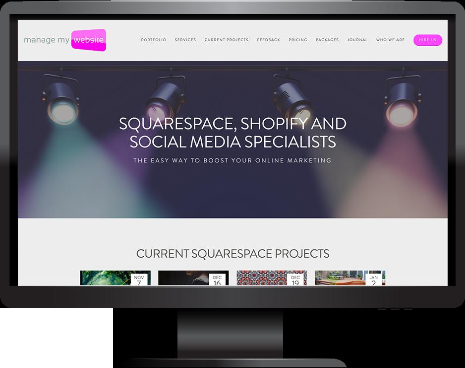 digital agency squarespace website hayden template desktop view
