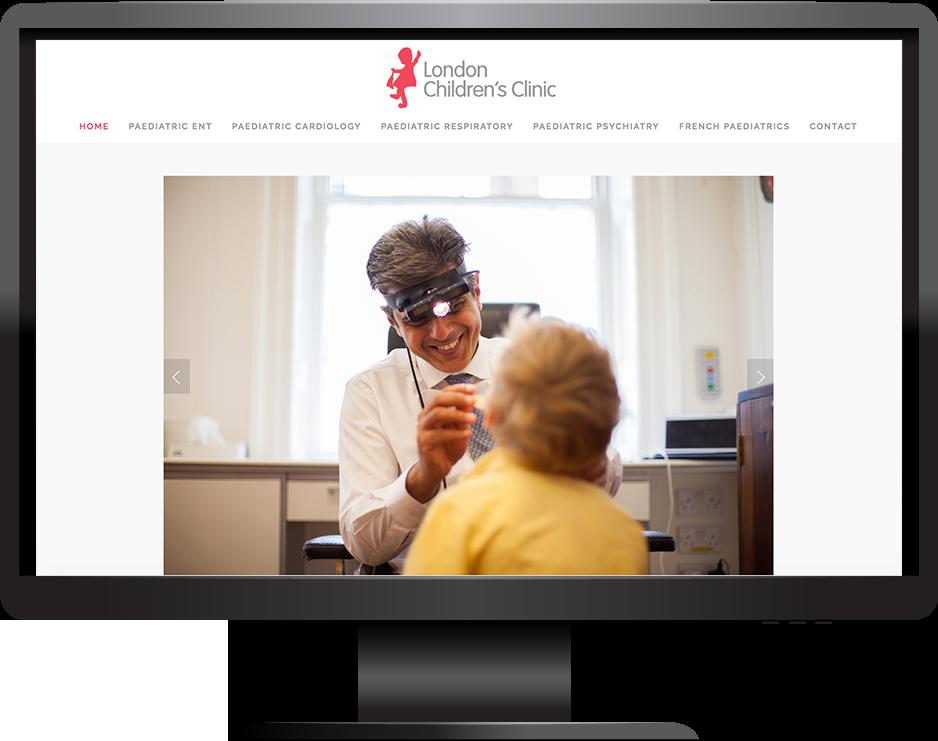 Medical squarespace website pacific template desktop view