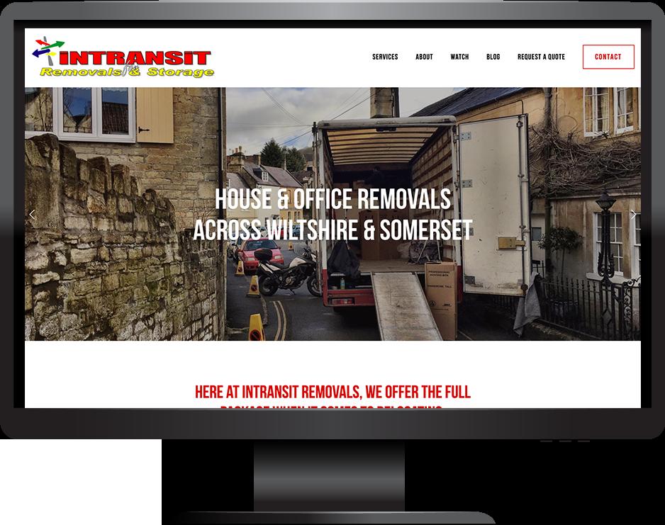 house removals squarespace website hayden template desktop view