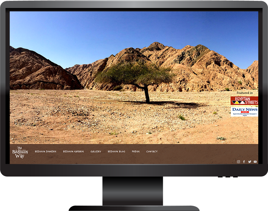 tourism squarespace website frontrow template desktop view