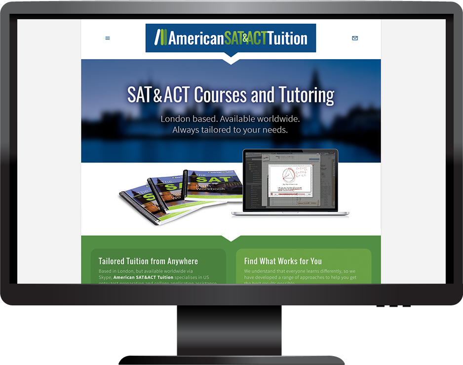 Education squarespace website adirondack template desktop view