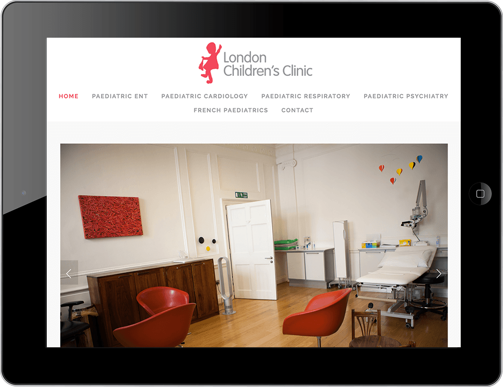 Medical squarespace website pacific template tablet view