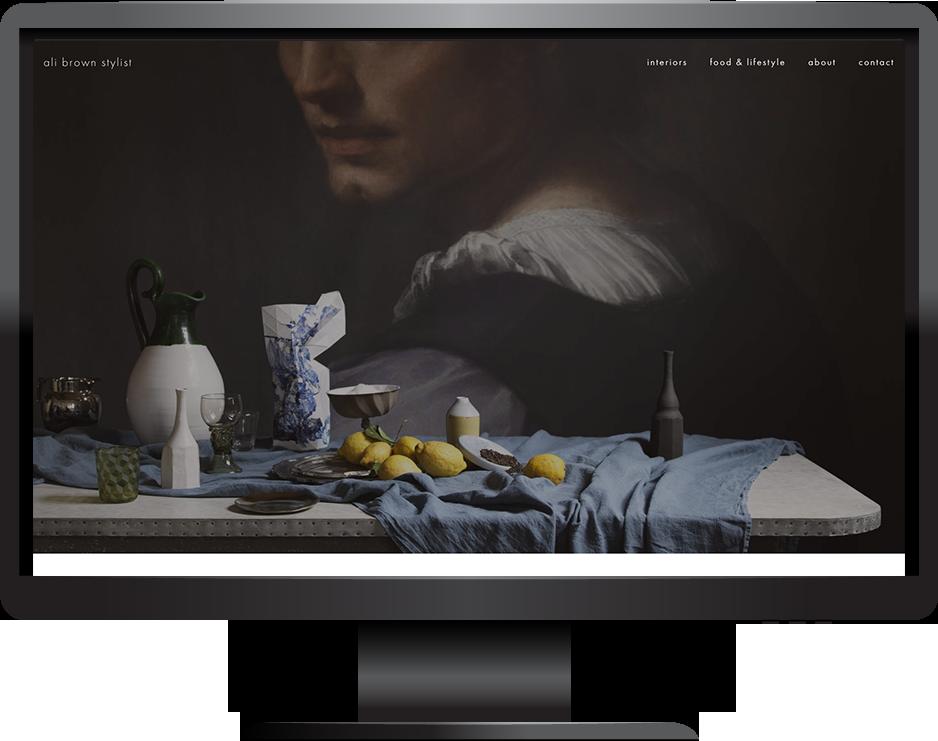Stylist Squarespace website desktop view