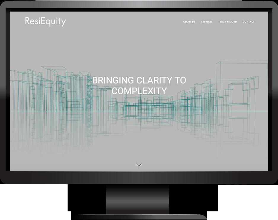ResiEquity desktop view