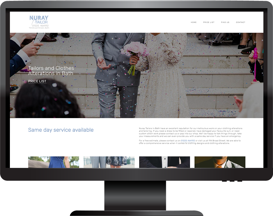 Nuray Tailor Bath Squarespace website