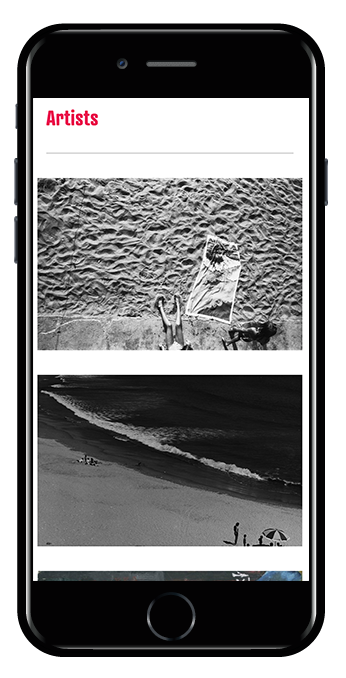 iPhone view photography website
