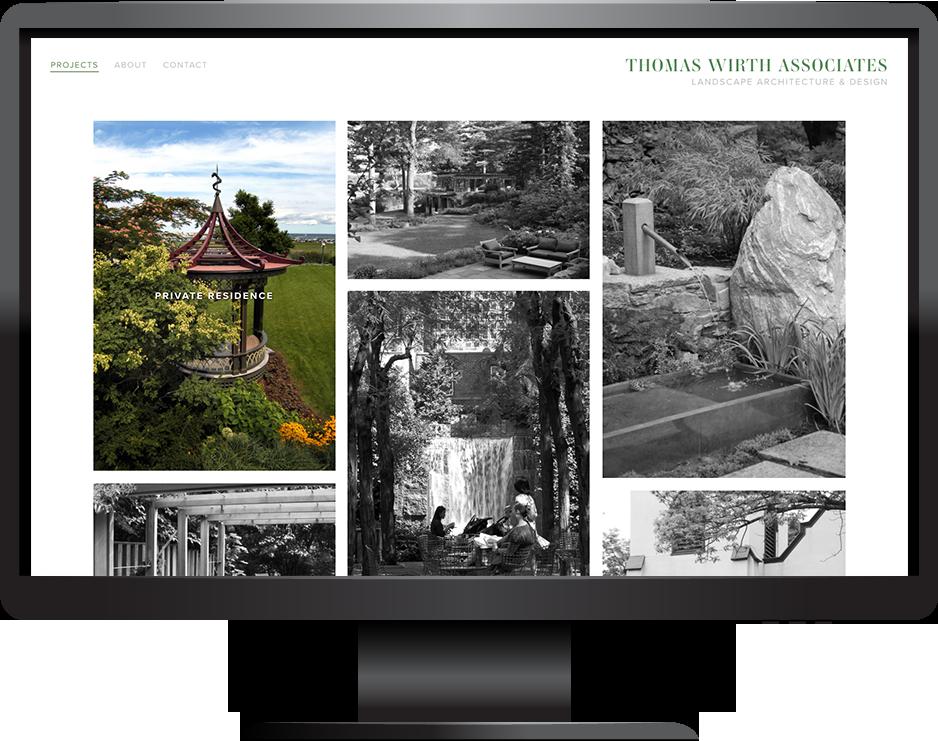 Garden design Squarespace website launch