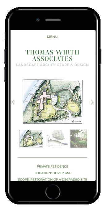 Mobile view Flatiron template
