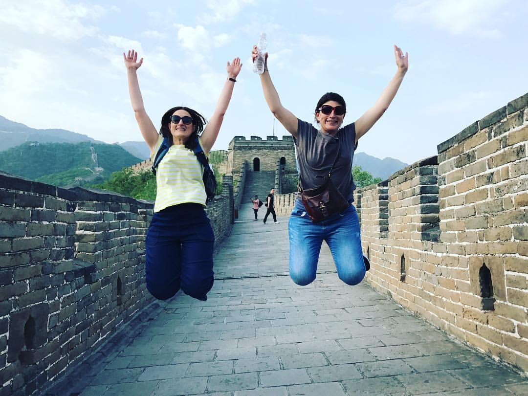 Allie Astell on the Great Wall of China