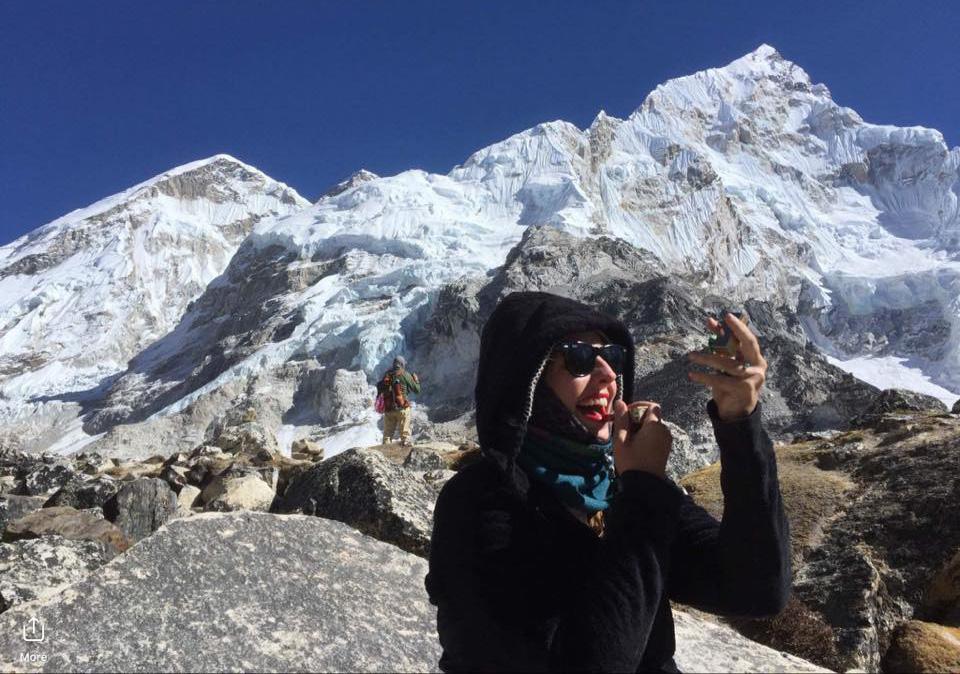 Valerie at Everest Basecamp