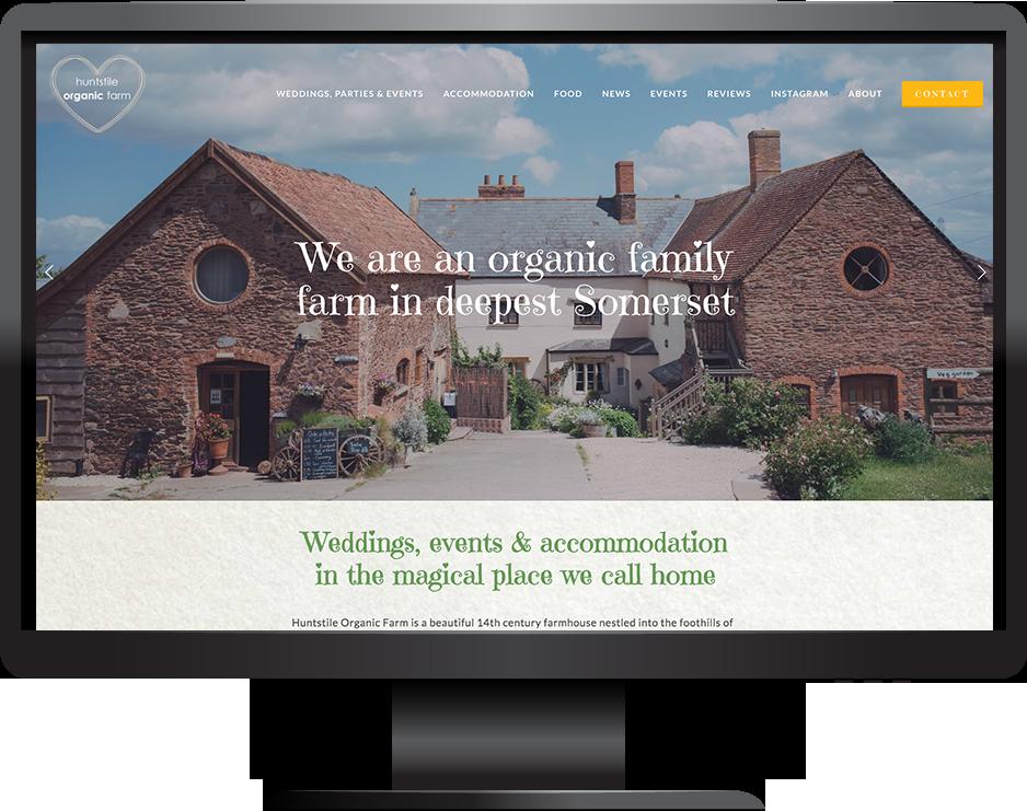 Squarespace wedding venue website