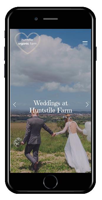 Huntstile Organic Farm mobile view