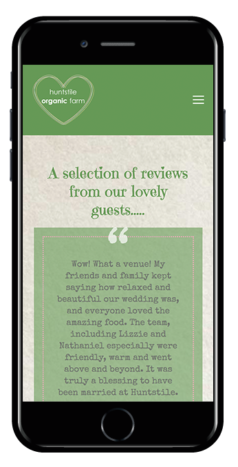 Quote block for reviews Squarespace