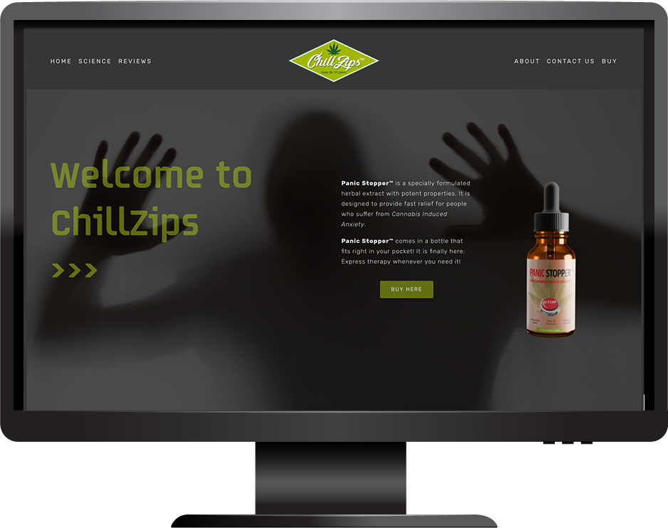 ChillZips Squarespace website Brine template