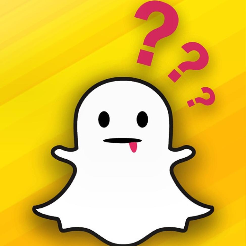 Snapchat Logo & Question Marks