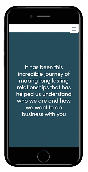 Mobile view Squarespace Hayden template