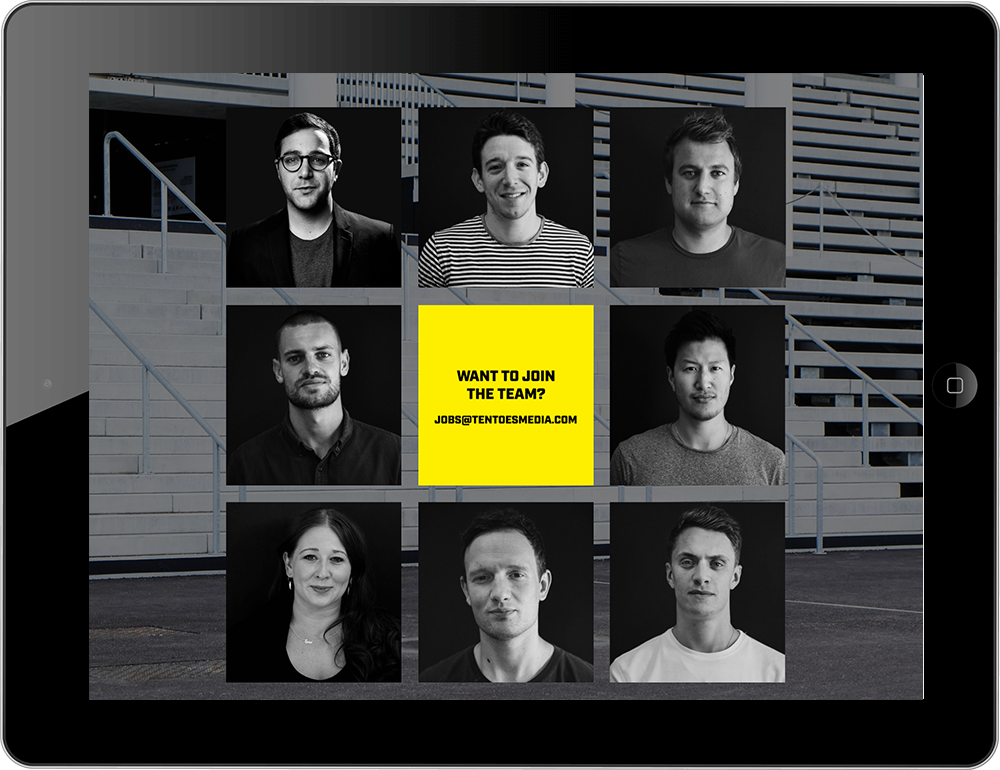 iPad view talent and brand agency Squarespace