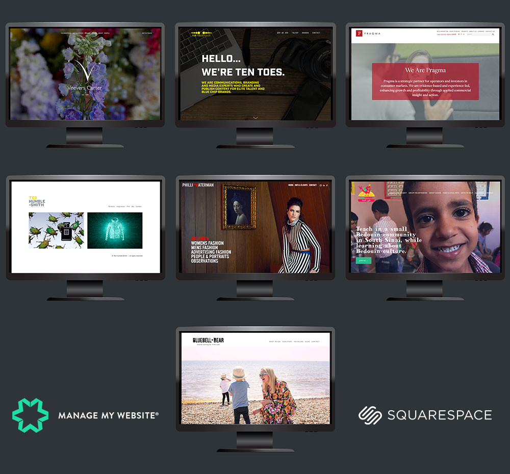 Squarepace website launches Manage My Website
