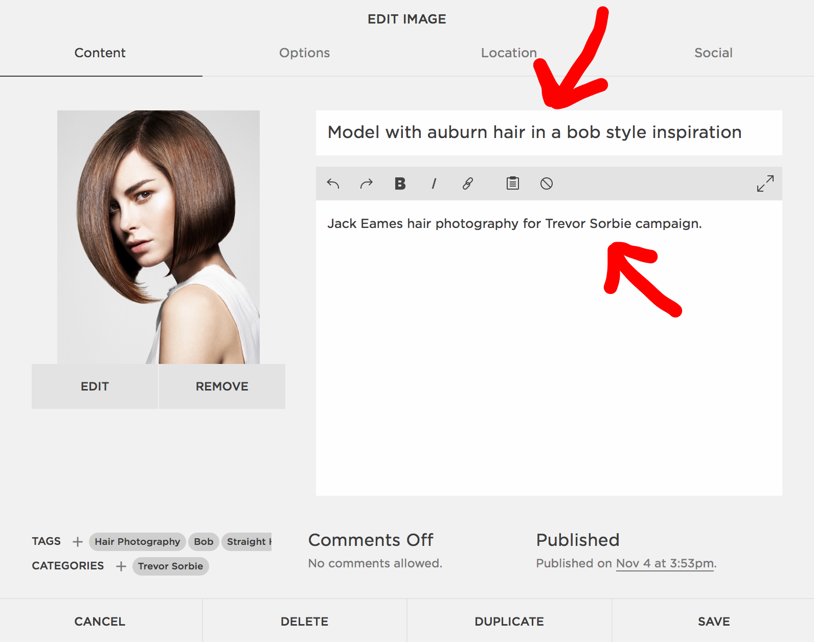 File name or alt tag for galleries Squarespace SEO
