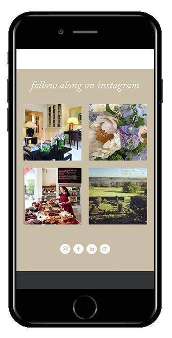 Instagram block Squarespace websites mobile view