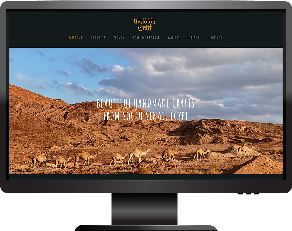 Bedouin Craft Squarespace Website Desktop