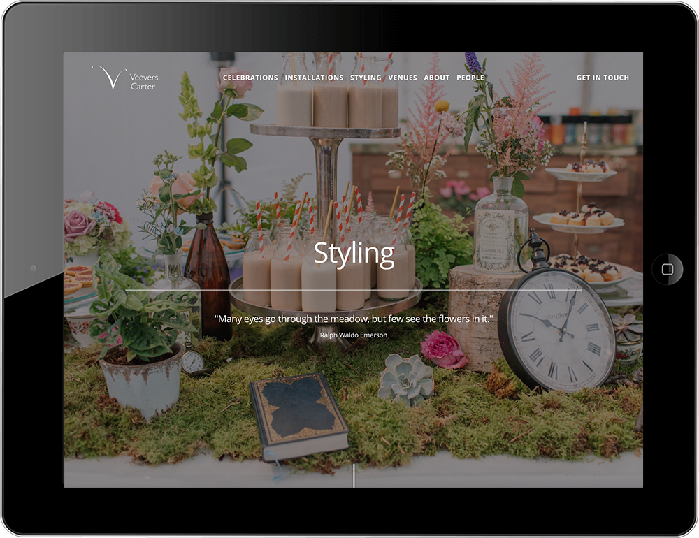 Beautiful Squarespace web design by specialists UK