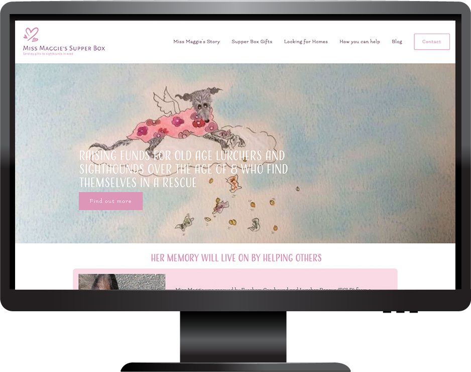 Animal charity website built on Squarespace