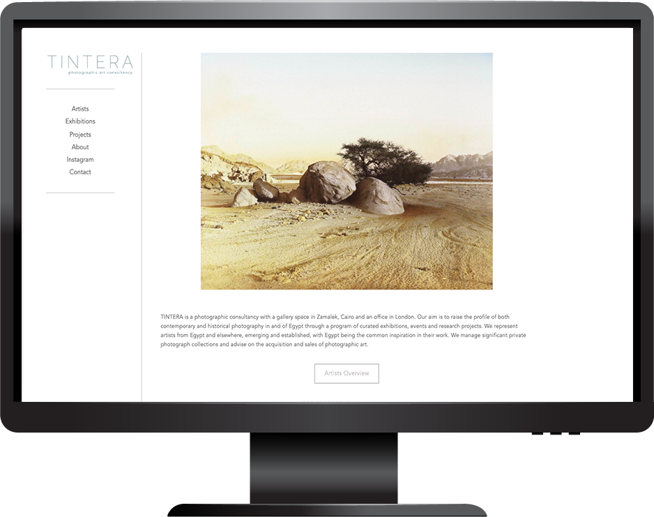 Photography gallery website Squarespace