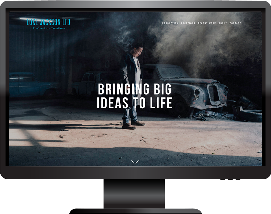 Squarespace website for film productions