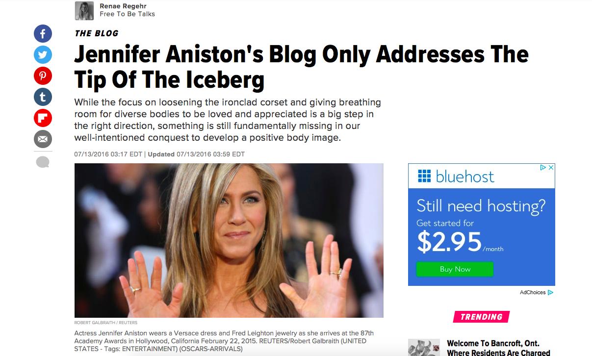 Huffpost Blog Jennifer Aniston