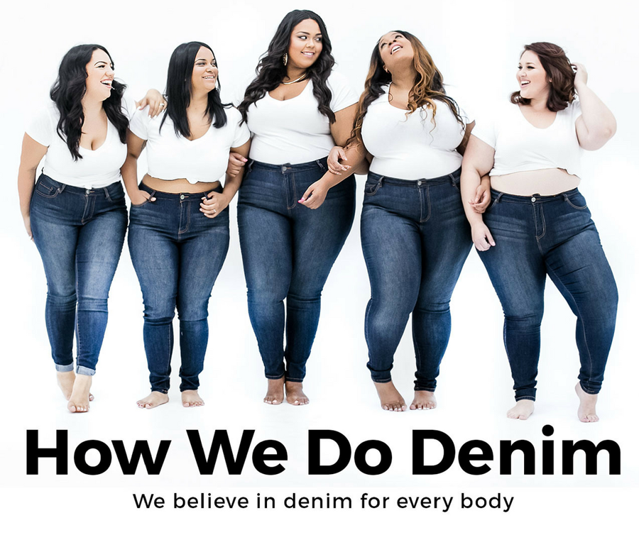 Campaigns like How We Do Denim, from Fashion to Figure are helping to create acceptance around diverse body types.