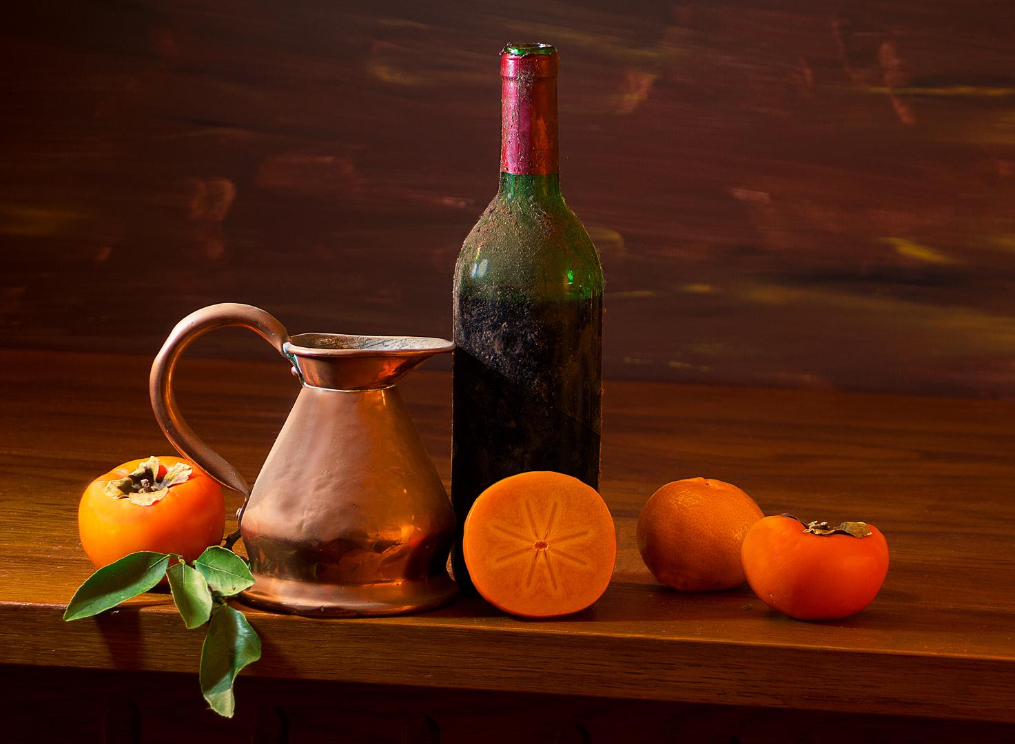 Copper Jug and Wine