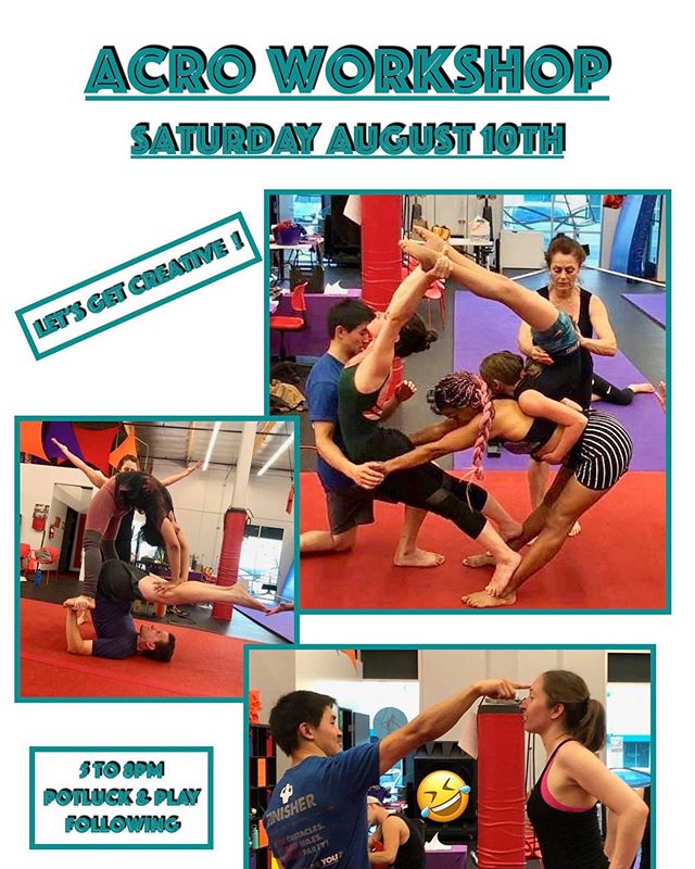 Come to our acro workshop this Saturday, August 10th from 5-8pm! Only $40!!!! Potluck after!!! We would love to see you there to create some awesome pyramids with us!!! For more info and to sign up, check out our our website in our bio.✨ 🎪#AAPAF #acroworkshop #acro #acroyoga #aerialyoga #redlandsyoga #redlands #aboutredlands #yogaroom #redlandscircus #redlandsfitness #acrobats #americanacrobats #circusgym #circusworkshop #circusclasses #classes #makefriends #training #acrobatics #acrobat #humanpyramid