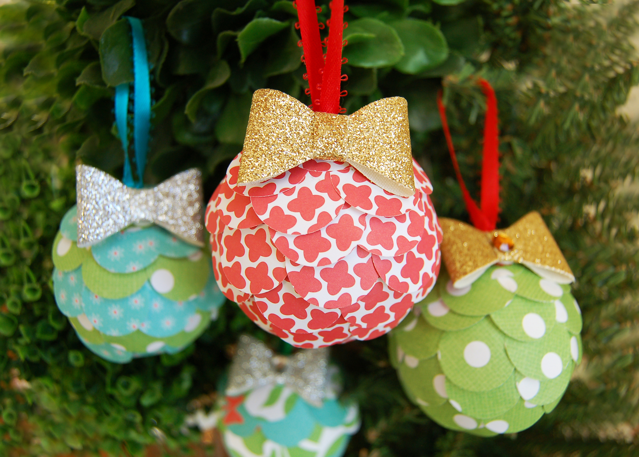 DIY Collage Ornaments