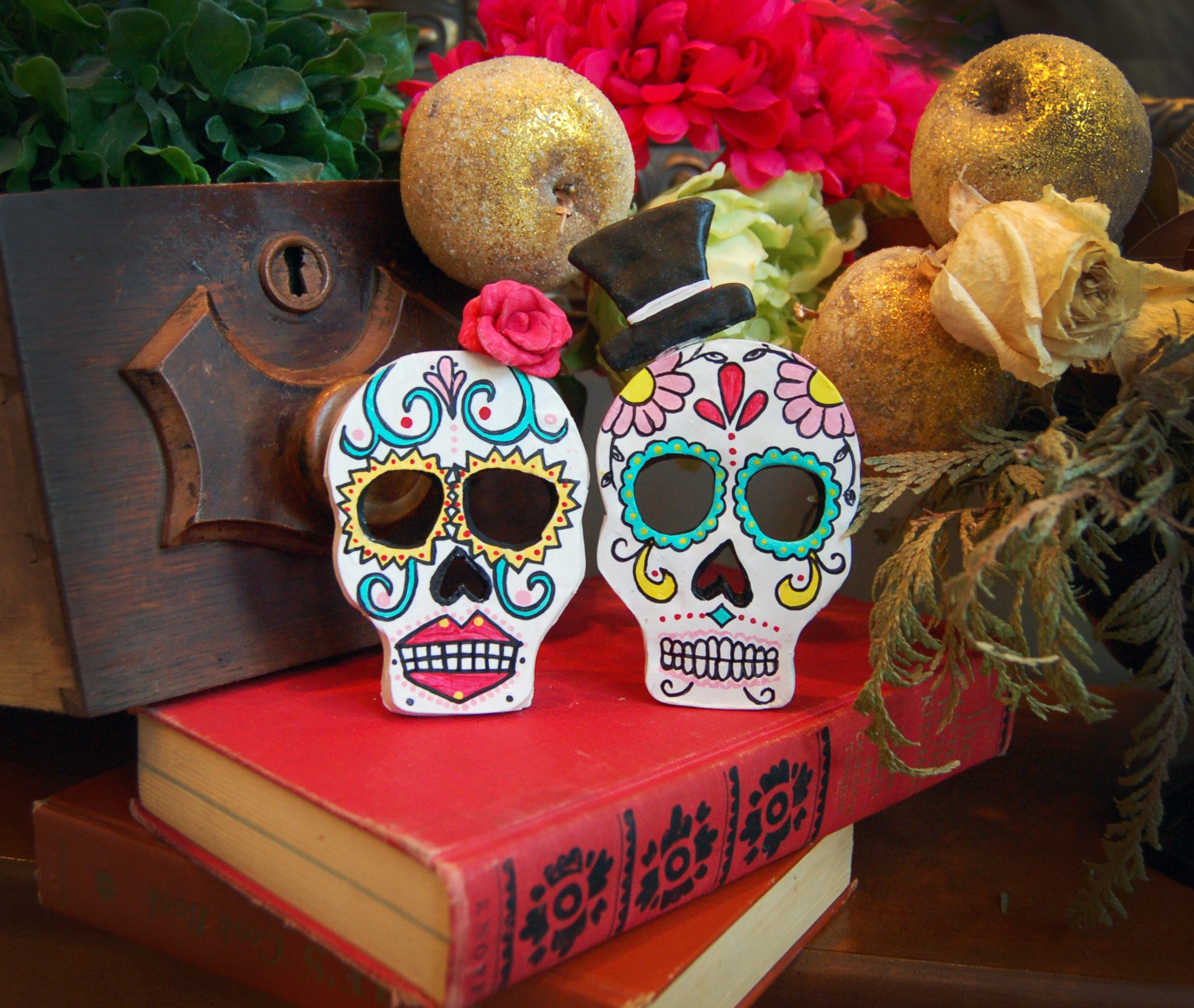 DIY Day of the Dead Skull Candle Holders