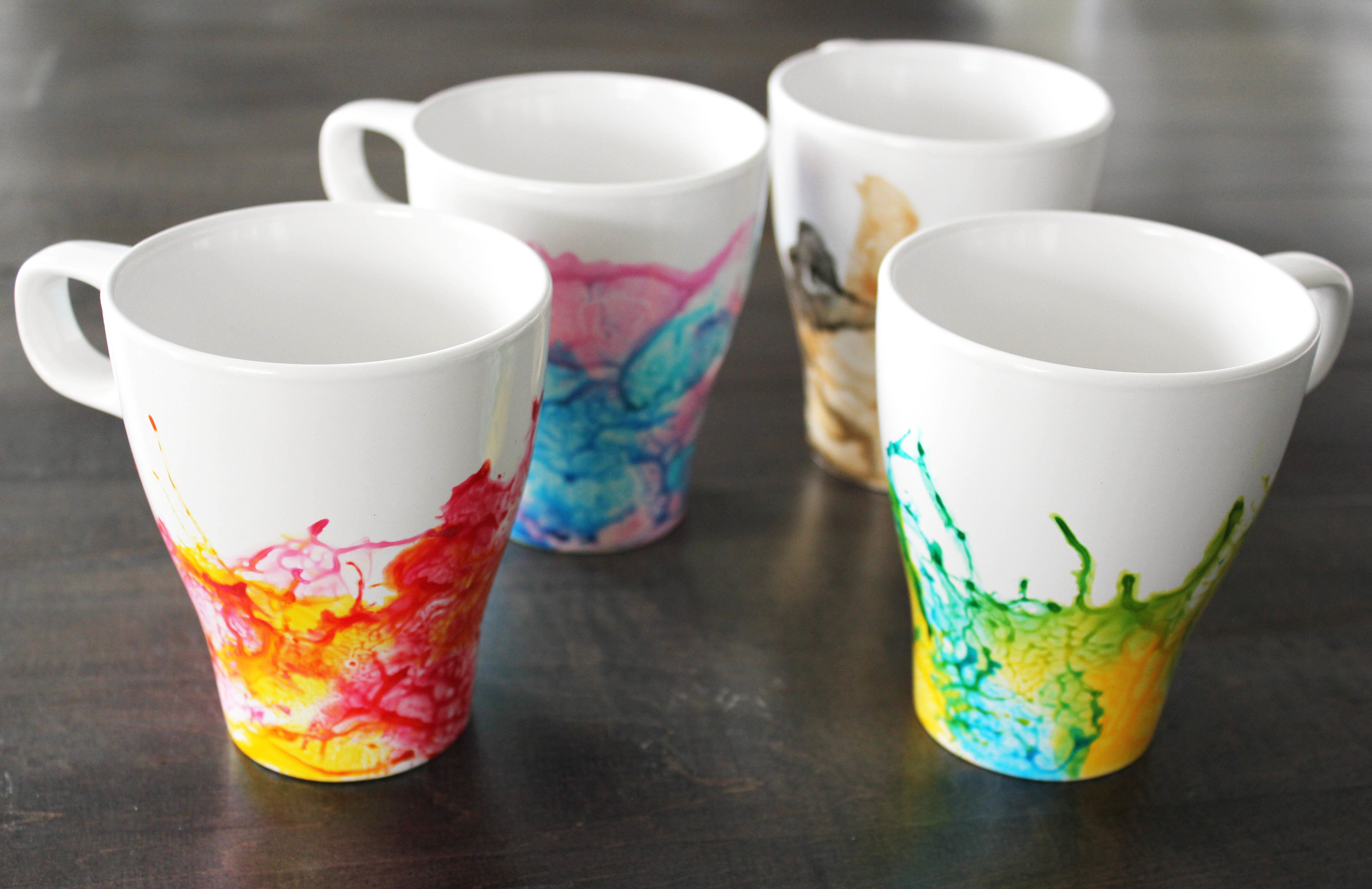 DIY Watercolour Mugs