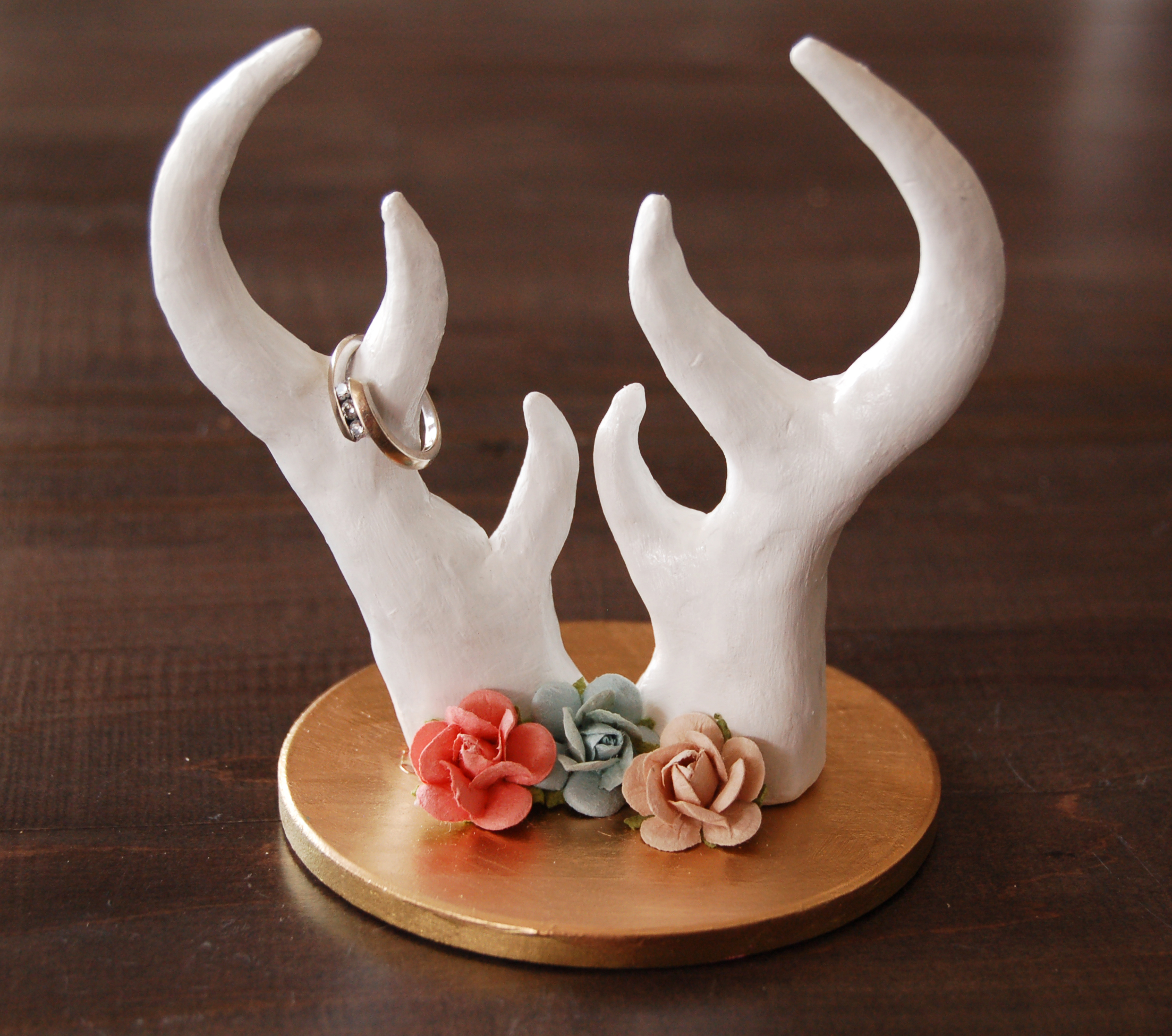 DIY Antler Ring Holder