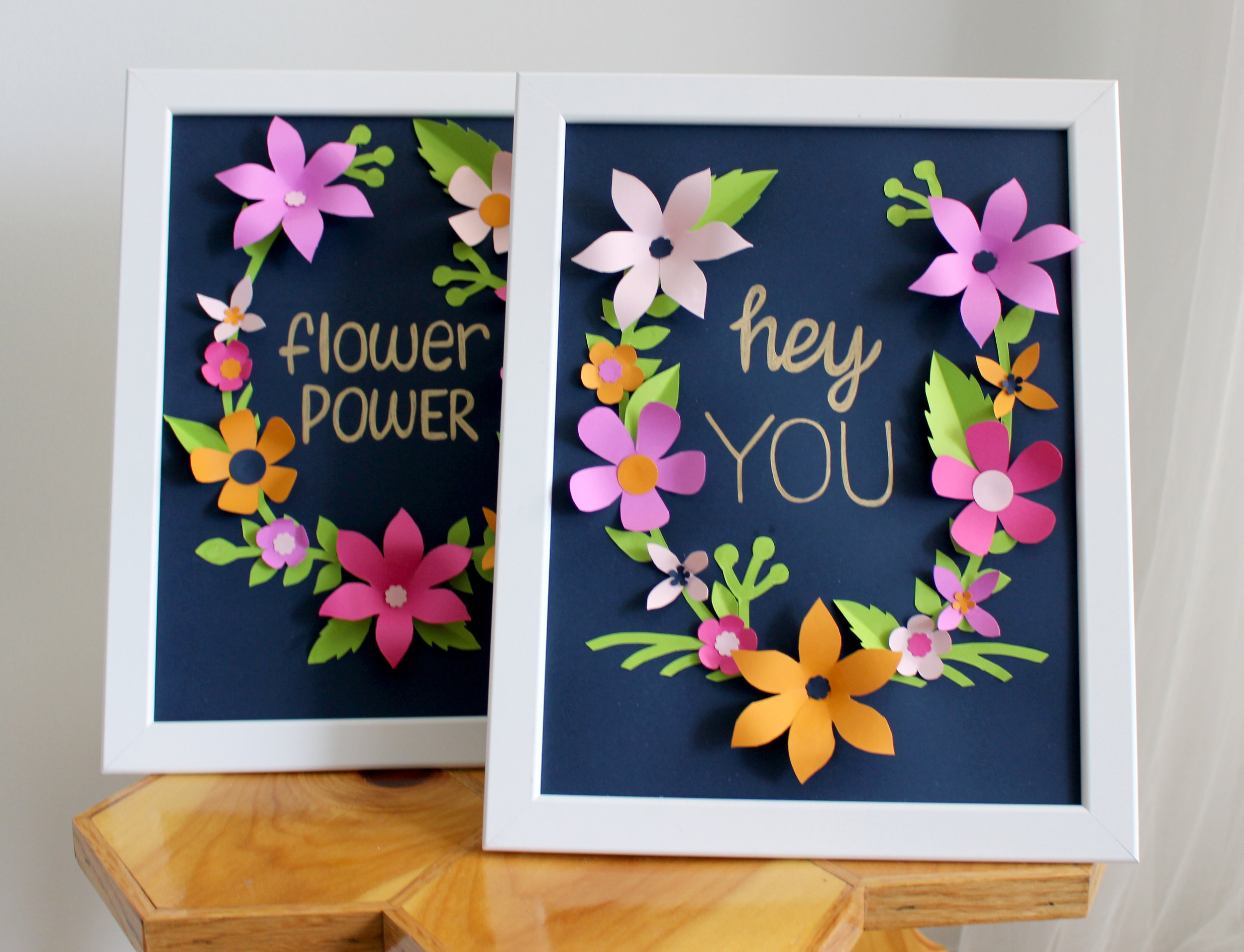 DIY Flower Frame
