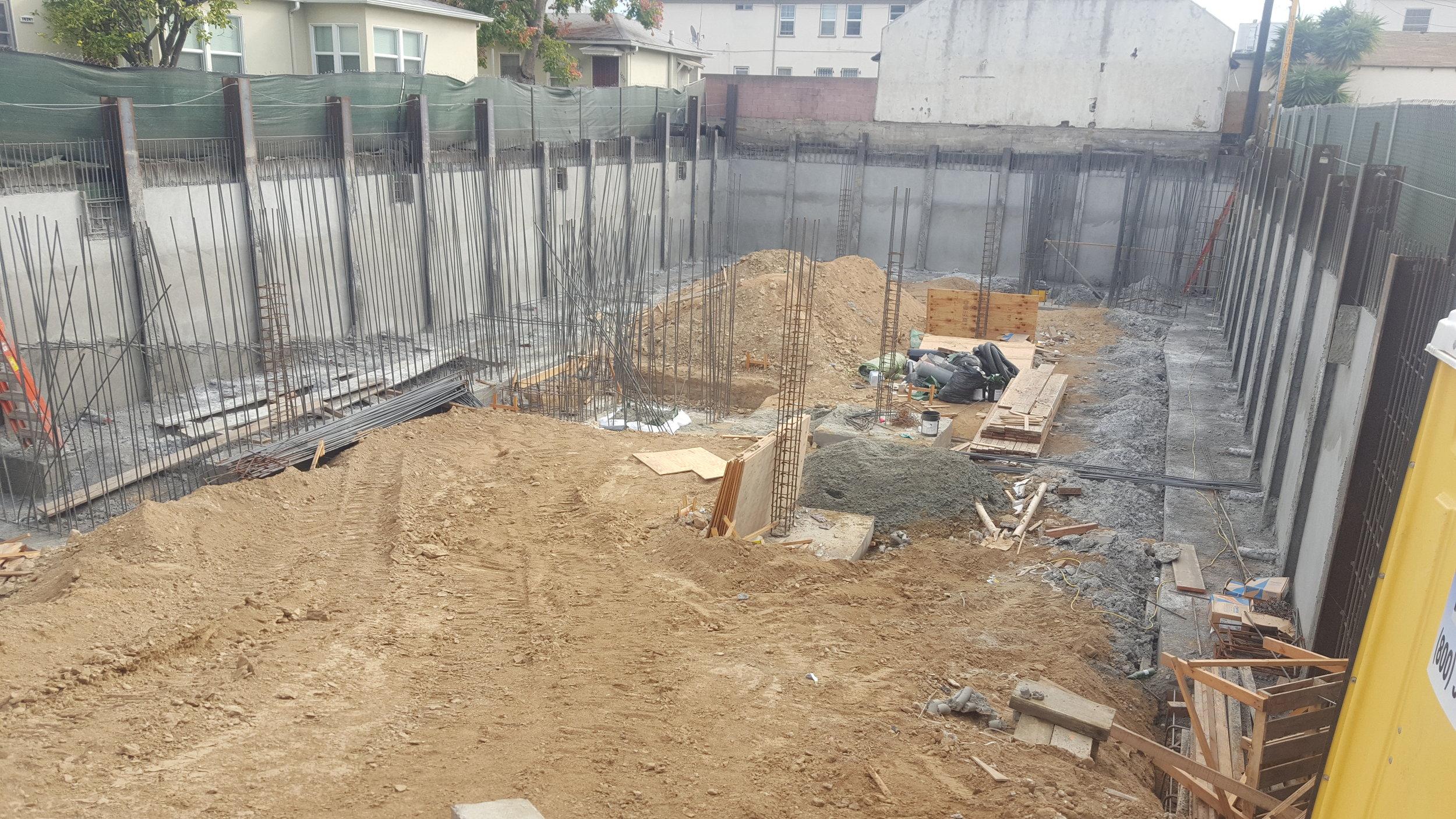 Subterranean parking garage for Multi Family development