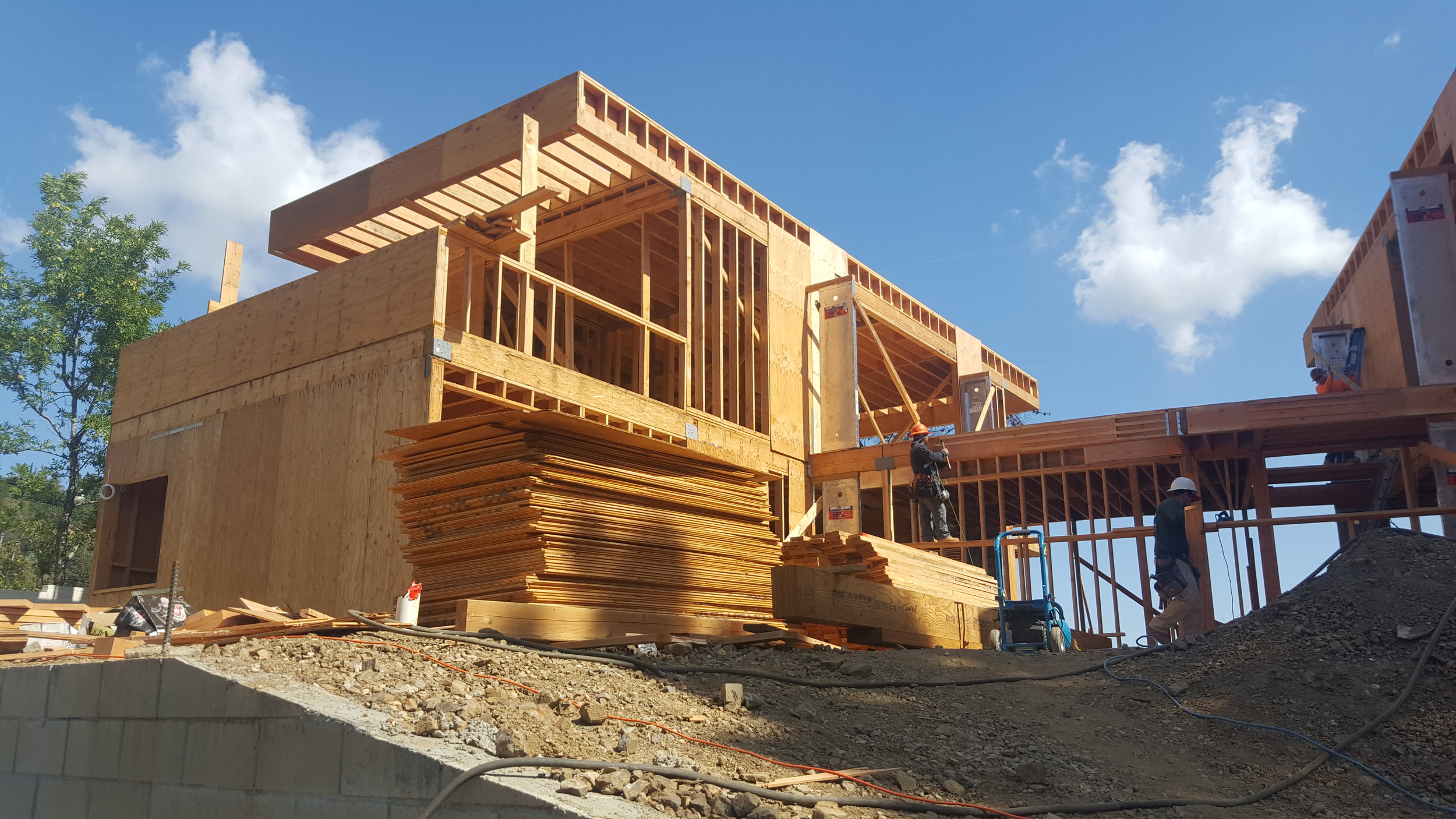 6,000 Sq Ft 3 level custom home. Built in 2 separate wings with bridge.