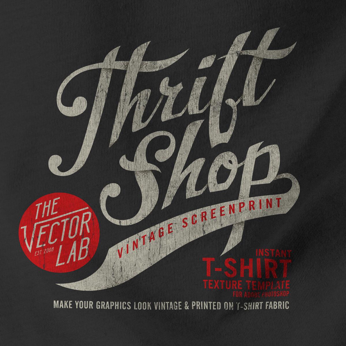 Thrift Shop Vintage T-Shirt Texture Template