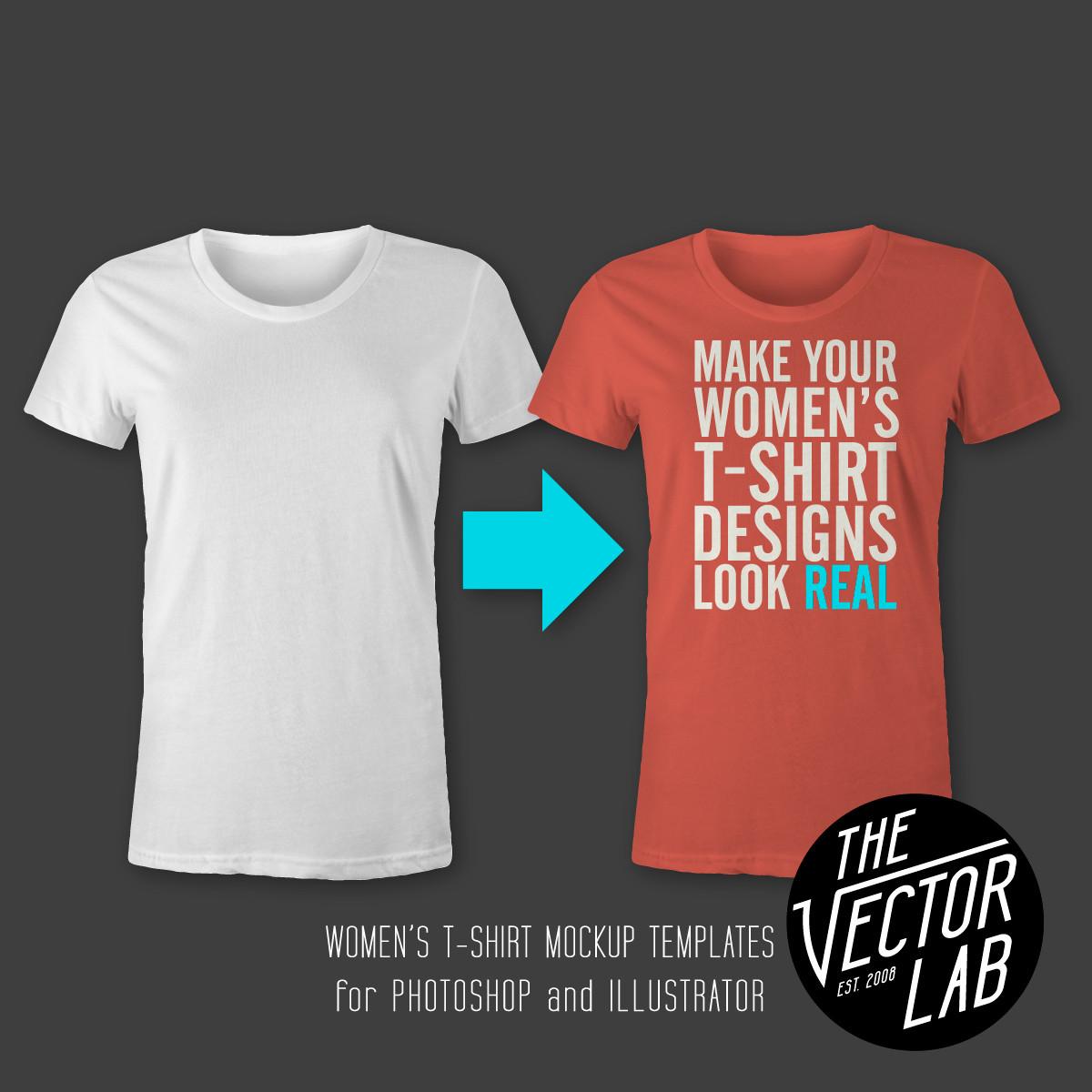 Women's T-Shirt & Apparel Templates