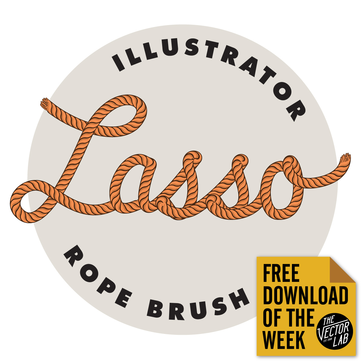 Lasso Rope Brush for Adobe Illustrator